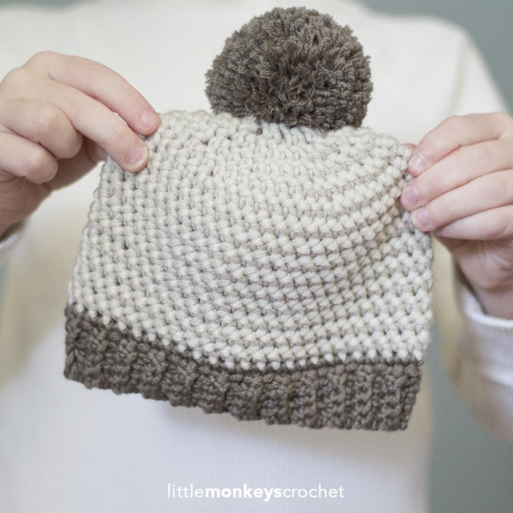 Herringbone Baby Hat (Ad-Free PDF)
